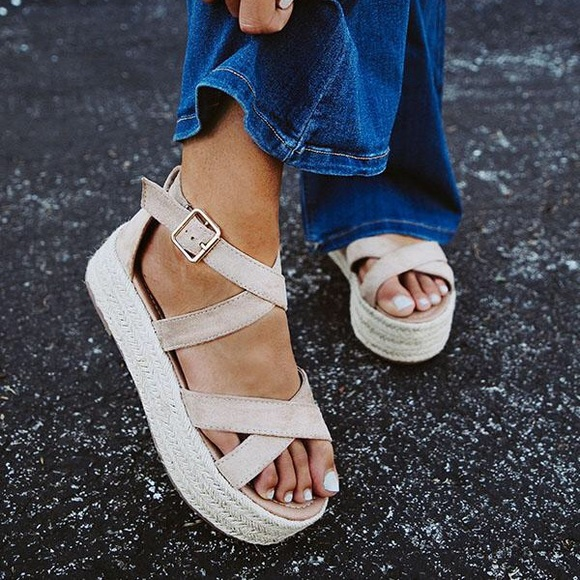 2110b9c9b4af4 Shoes   Fatima Espadrille Wedge Natural   Poshmark